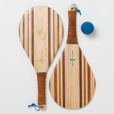 Hardwood Paddle Ball Set