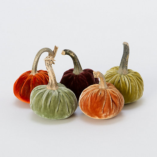 Velvet-Wrapped Pumpkin, Small