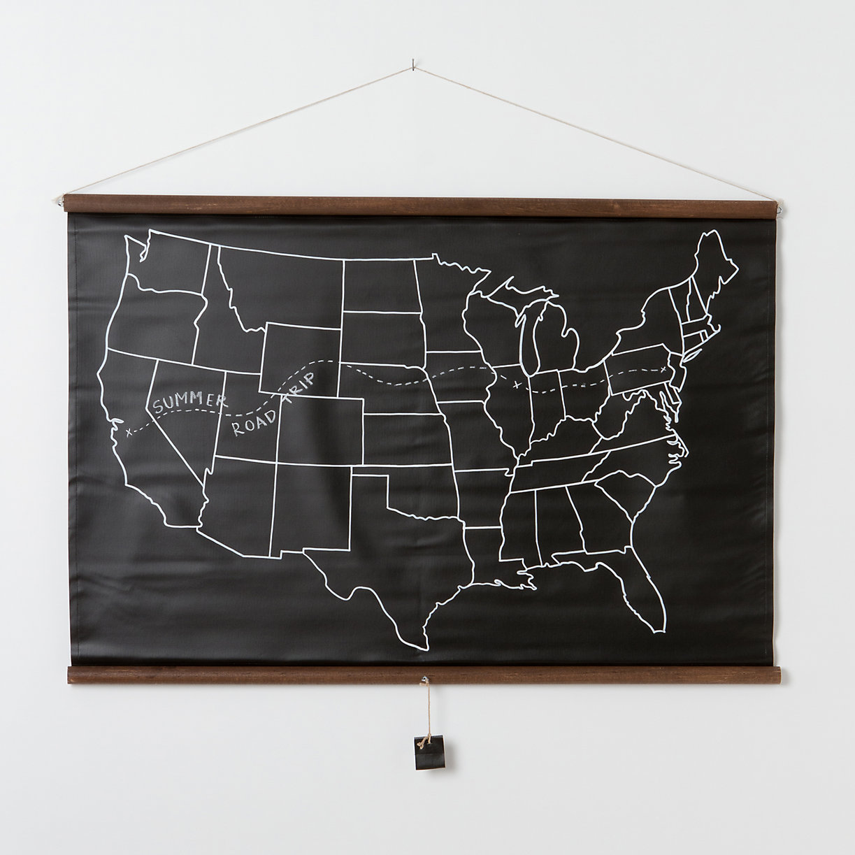 United States Chalkboard Map Terrain - Us map zoomable