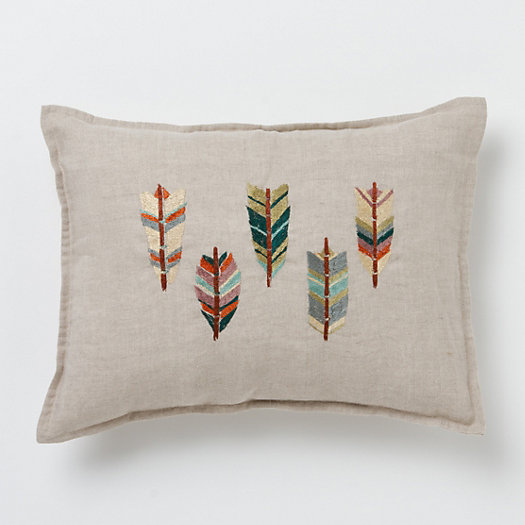 Embroidered Wingtips Pillow