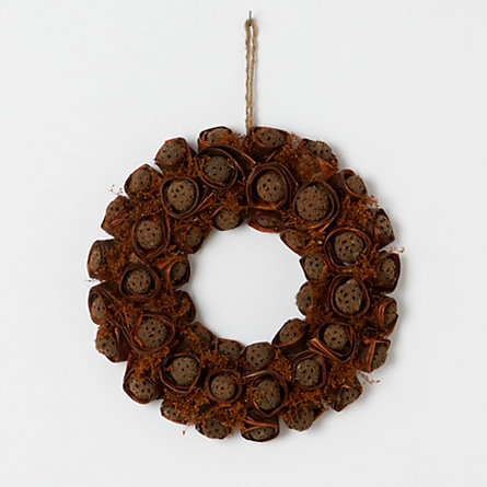 Sweetgum & Dried Bean Wreath