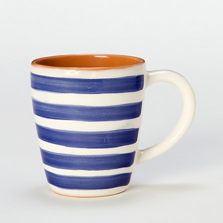 Indigo Striped Terracotta Mug