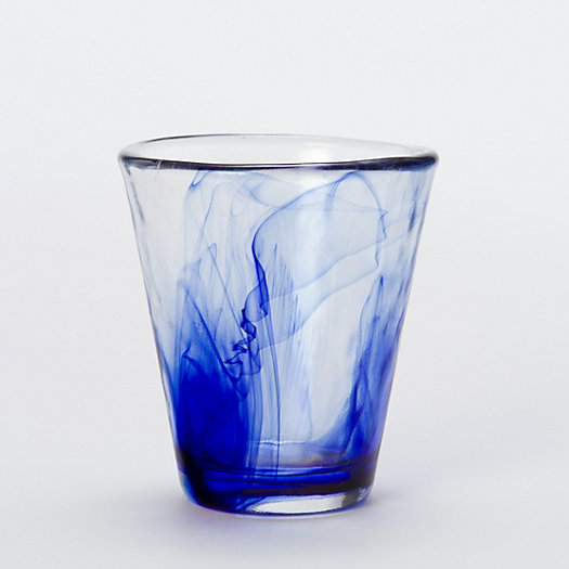 Cobalt Watercolor Glass