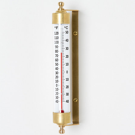 Brass Cylinder Thermometer