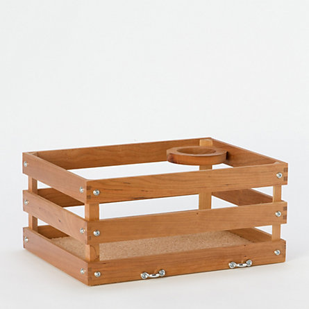Cherry Wood Bicycle Crate