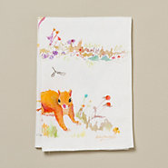 Watercolor Squirrel Tea Towel
