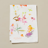 Watercolor Flora Tea Towel