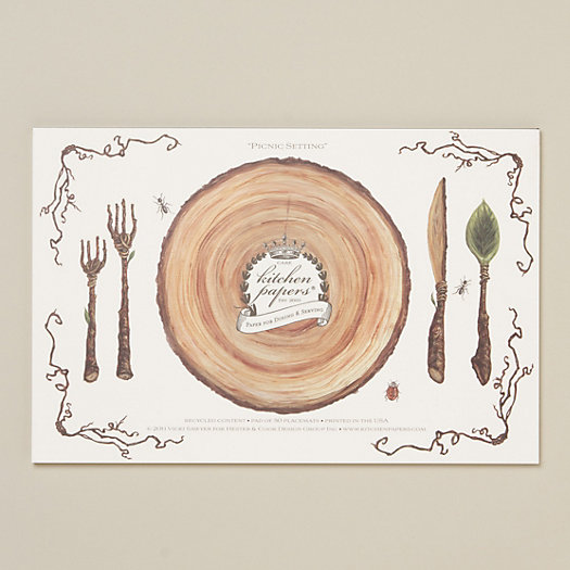 Picnic Setting Paper Placemat Pad