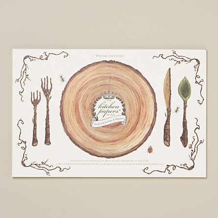Picnic Setting Paper Placemat Pad In House Home Table Linens At Terrain