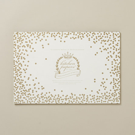Golden Confetti Placemat Pad