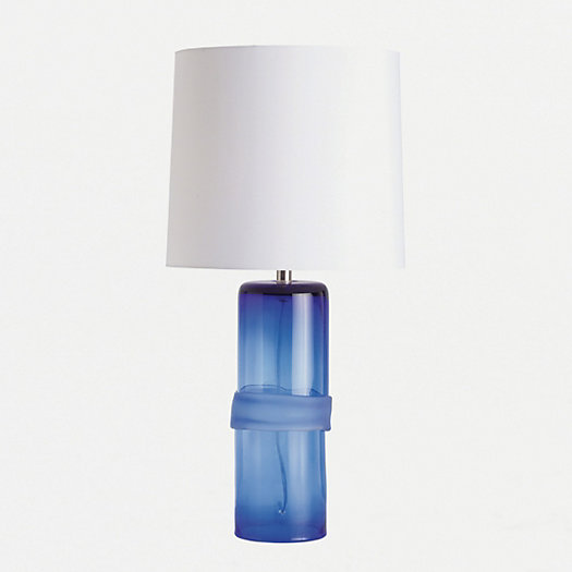 Banded Glass Table Lamp
