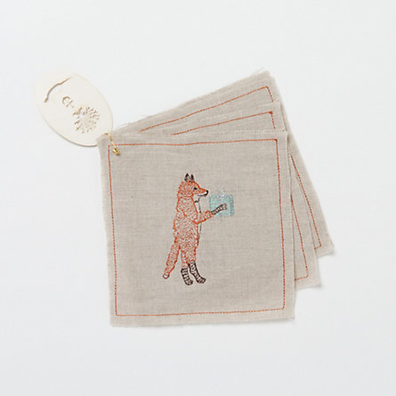Festive Fox Cocktail Napkins