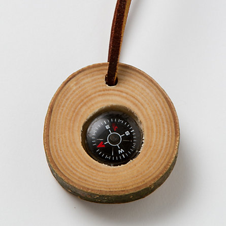 Cherry Wood Compass