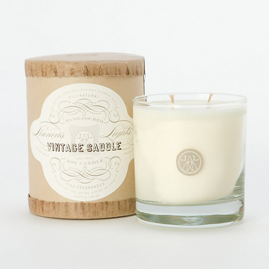 Linnea's Lights Vintage Saddle Candle