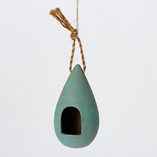 Ceramic Drop Birdhouse