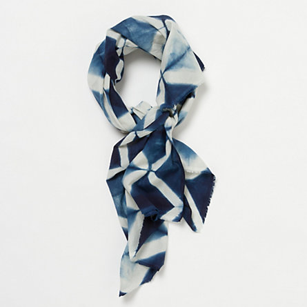Shibori Scarf, Diamonds