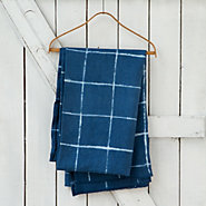 Indigo Check Tablecloth
