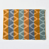 Diamond & Stripe Rag Rug