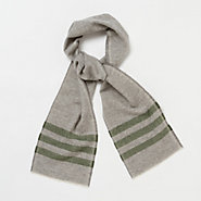 Striped Trapper Scarf, Olive