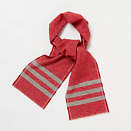 Striped Trapper Scarf, Red