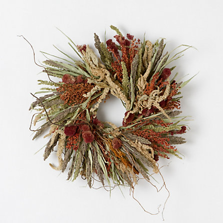 Autumnal Amaranth Wreath