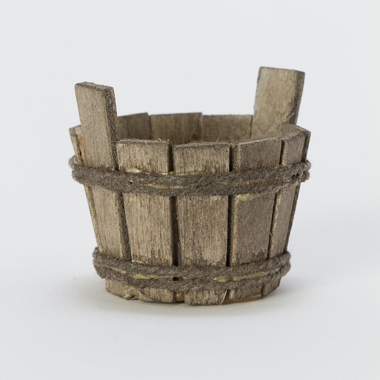 Wooden Bucket Terrarium Topper Terrain