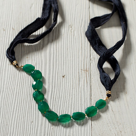 Pooled Onyx Necklace
