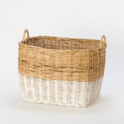 Colorblock Wicker Basket