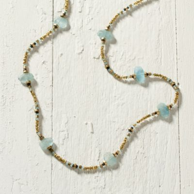Pooled Aqua Necklace