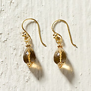 Cognac Quartz Drop Earrings