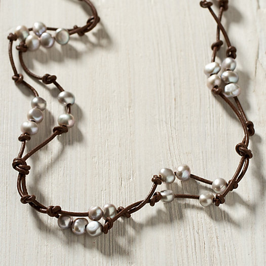 Scattered Pearls Bracelet, Silver