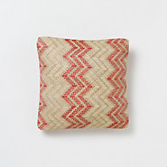 Chevron Outdoor Pillow, Red