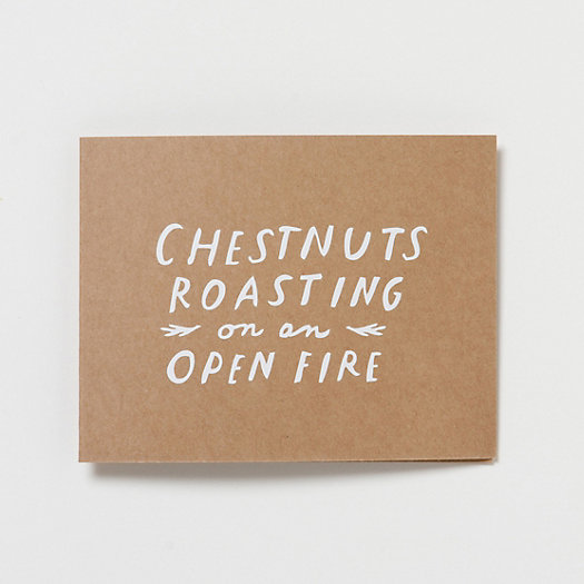 Chestnuts Roasting Card