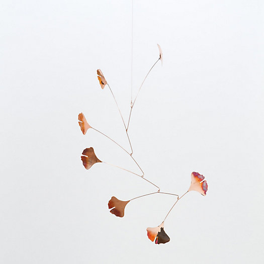 Copper Gingko Mobile