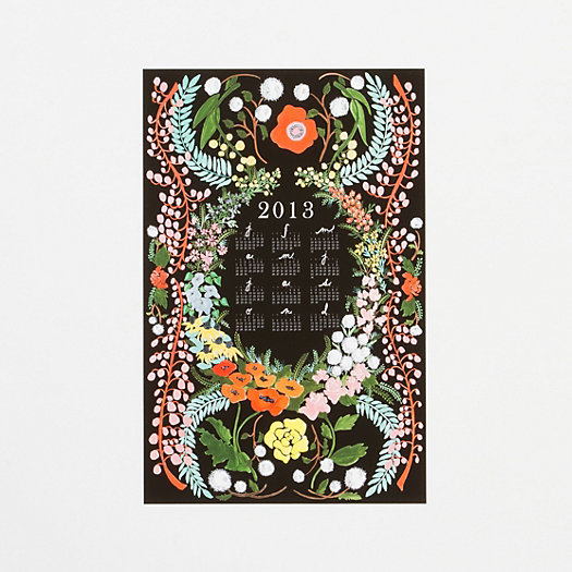 Language of Flowers Wall Calendar