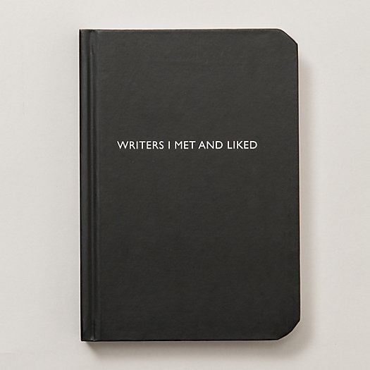 Writers I Met and Liked Notebook
