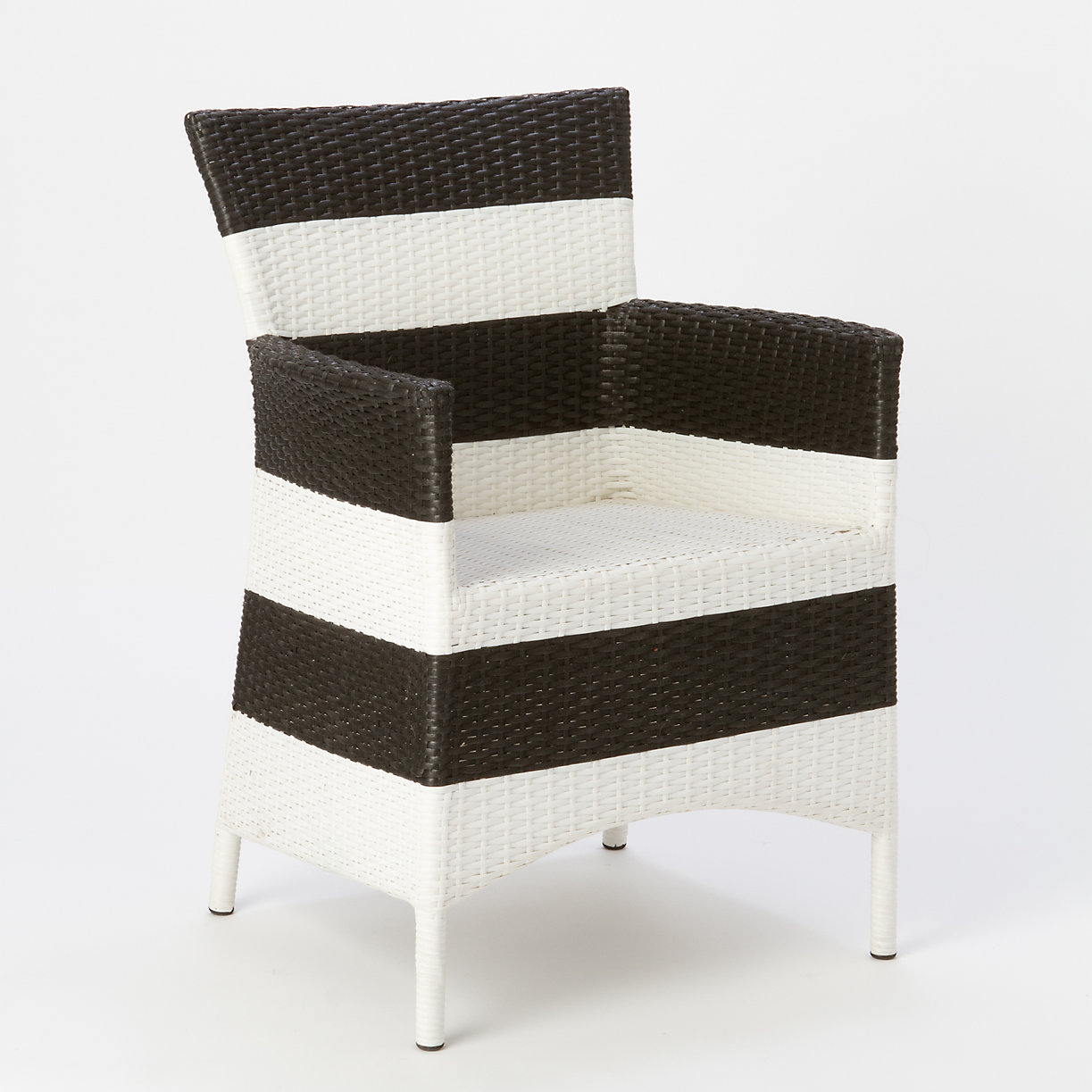 woven armchair stripe loading zoom black and white striped furniture
