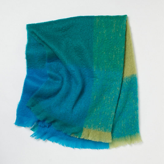 Mohair Throw, Aqua