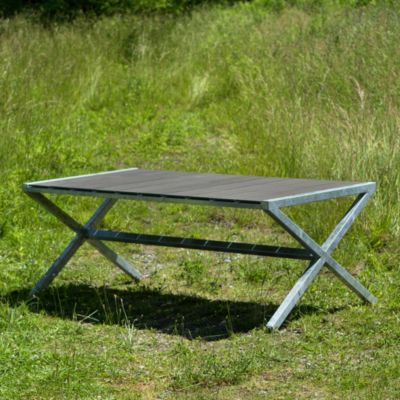 Zinc Crossed Leg Table