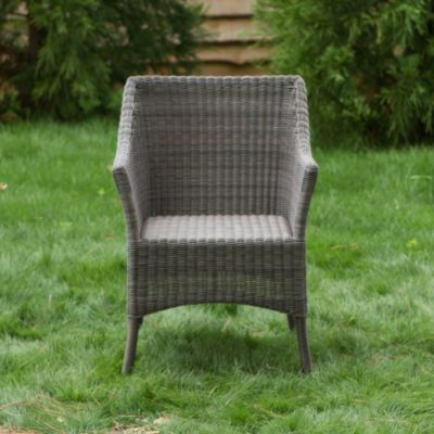 All-Weather Wicker Square Back Chair