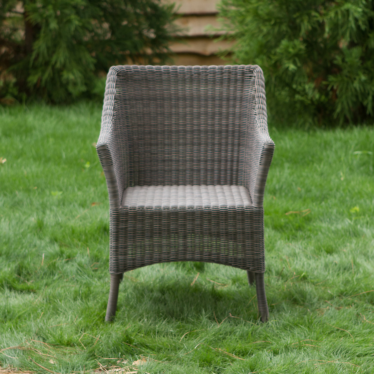 All weather wicker square back chair terrain for All weather wicker furniture