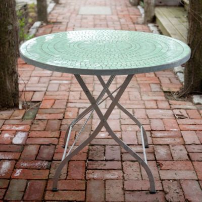 Tile Top Garden Table