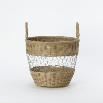 Wire & Wicker Basket