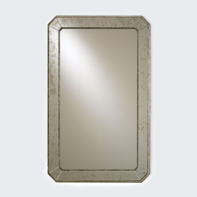 Antiqued Deco Mirror
