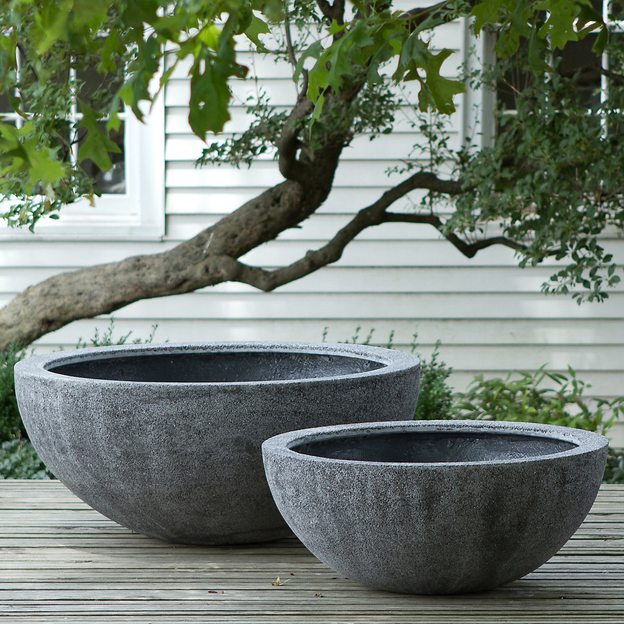 Tall fiberstone bowl terrain for Large garden stones for sale