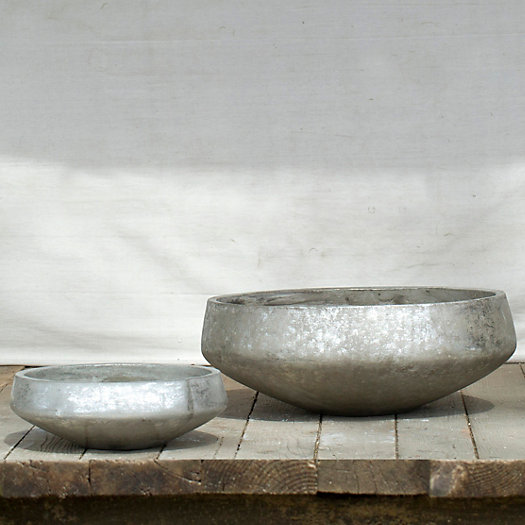 Brushed Silver Bowl