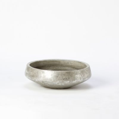 Brushed Silver Bowl Planter