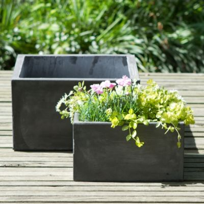 Low Fiberclay Square Planter
