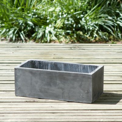 Smooth Fiberclay Trough, Small