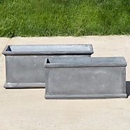 Oblong Fiberclay Trough